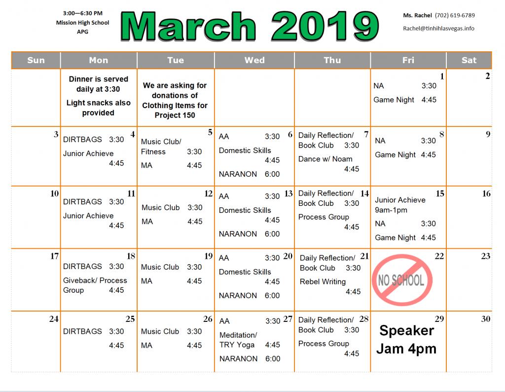 APG 03.19 Schedule